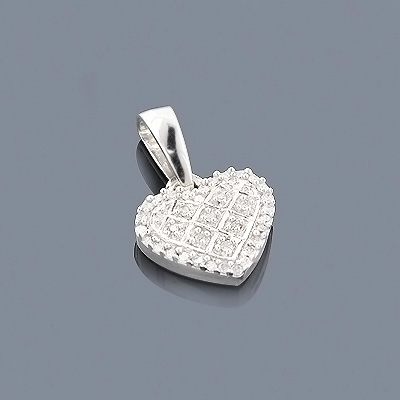 Silver Diamond Heart Pendant 0.20ct main