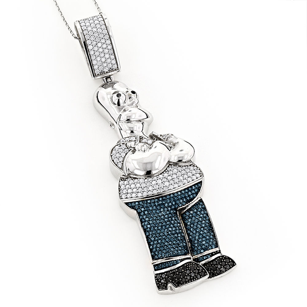 Simpson Charms 10K Homer Simpson Diamond Pendant 3.64 White Image