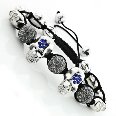 Skull Jewelry: Disco Ball Bracelet with Crystals