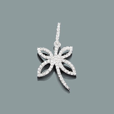 Small Diamond Butterfly Pendant 0.25ct 10K Gold Main Image