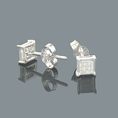 Small Diamond Earrings 10K Gold Diamond Studs 0.05ct Main Image