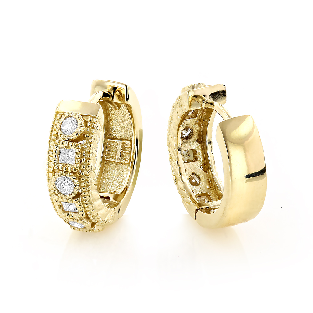 diamond small earrings listing il studs concave fullxfull zoom gold circle