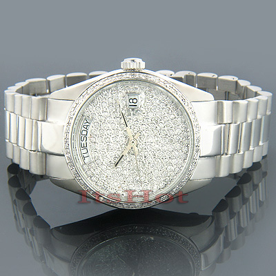 Solid Gold Watches Geneve Gold Diamond Watch 2ct Main Image