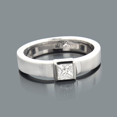 Solitaire Princess Cut Diamond Engagement Ring 0.30ct Main Image