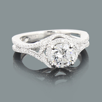 Split Shank Engagement Ring Mounting 0.73ct 14K