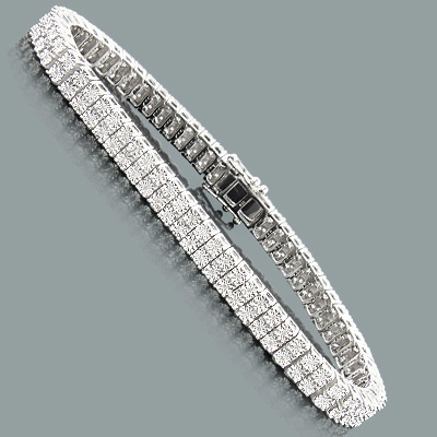 Sterling Silver 2 Row Diamond Bracelet 0 40ct