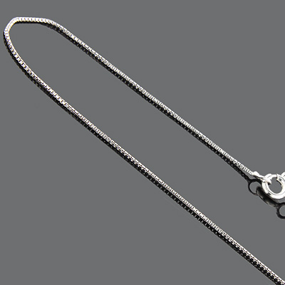 Womens Sterling Silver Box Chain 16in 1mm Main Image