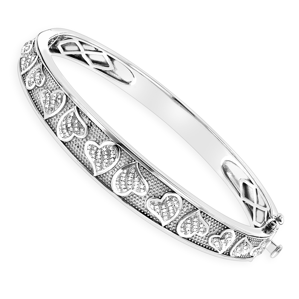 products white bracelet sterling bangles bangle grande heart silver uforia