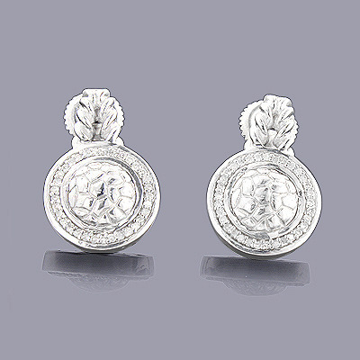 Sterling Silver Diamond Circle Earrings 0.22ct Main Image
