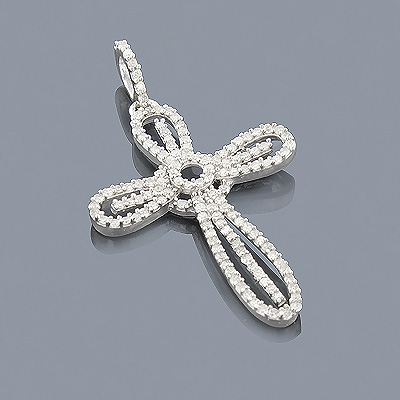 Sterling Silver Diamond Cross Pendant 0.39ct Main Image