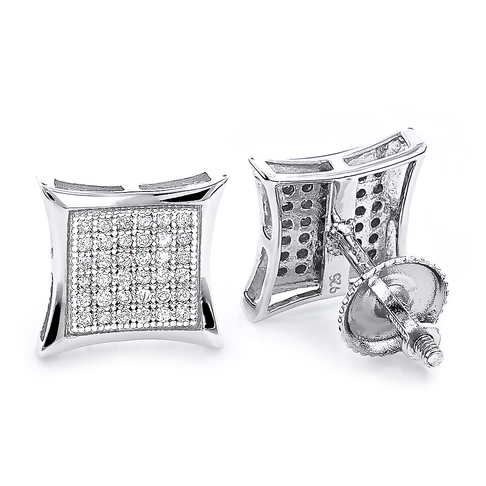 Sterling Silver Diamond Earrings 0.29ct Studs