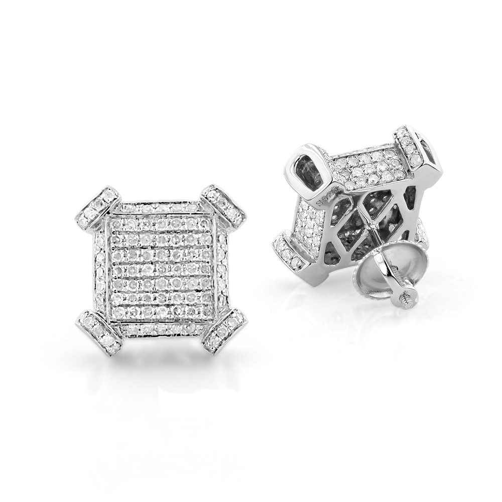 Sterling Silver Diamond Earrings 1.43ct