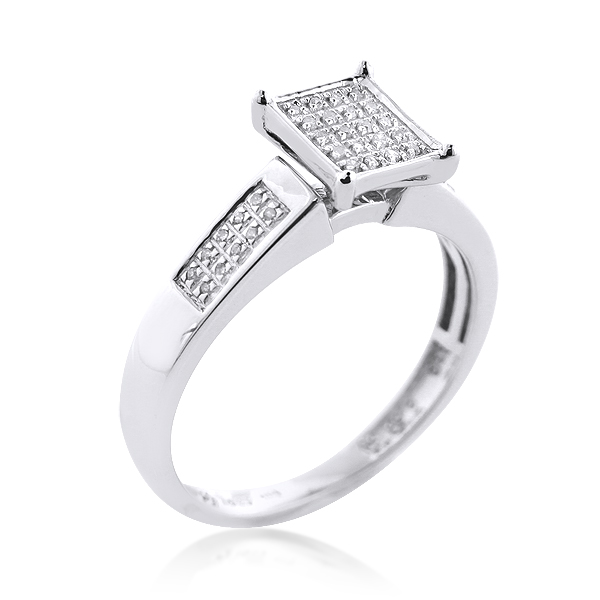 Sterling Silver Diamond Engagement Ring 0.25ct sterling-silver-diamond-engagement-ring-025ct_1