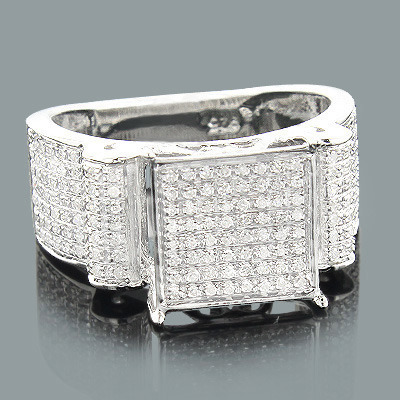 Sterling Silver Diamond Engagement Ring 0.43ct
