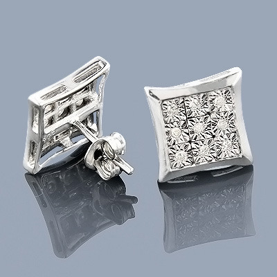 Sterling Silver Diamond Stud Earrings 0.20ct Main Image