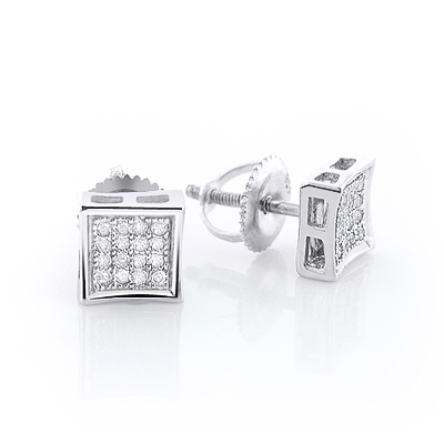 Sterling Silver Diamond Stud Earrings 0.25ct