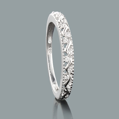 Thin Sterling Silver Diamond Wedding Band 0.06ct sterling-silver-diamond-wedding-band-006ct_1