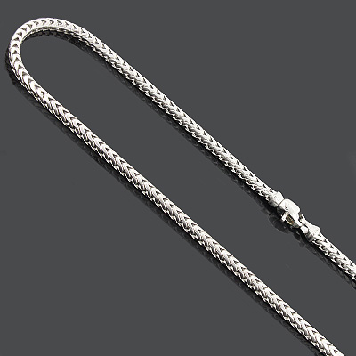 Sterling Silver Franco Chain Necklace 3mm 30 Inches Main Image