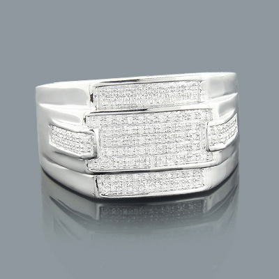 Sterling Silver Rings: Mens Diamond Ring 0.25ct main