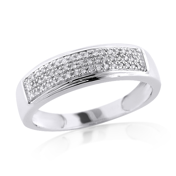 Sterling Silver Wedding Bands: Mens Diamond Ring 0.34ct sterling-silver-wedding-bands-mens-diamond-ring-034ct_1