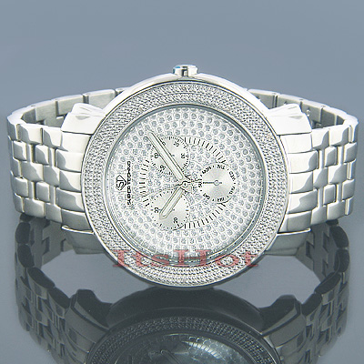 Super Techno Mens Diamond Watch 0.12 ct Main Image