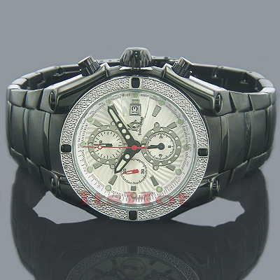 Techno Master Watches Mens Diamond Watch 0.25ct Black Main Image