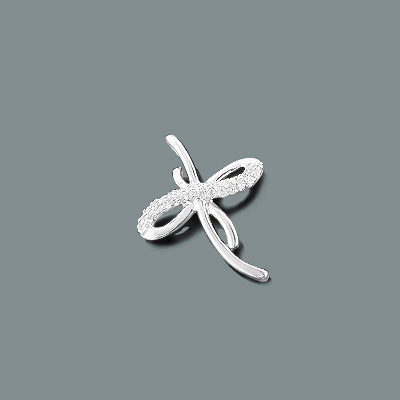 Tiny Diamond Cross Pendant in 10K Gold 0.12ct Main Image
