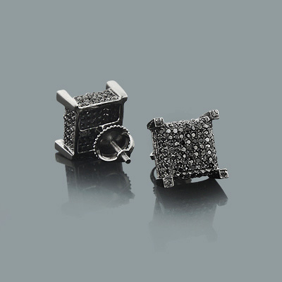 Trendy Black Diamond Stud Earrings 1.07ct 10K Gold trendy-black-diamond-stud-earrings-107ct-10k-gold_1