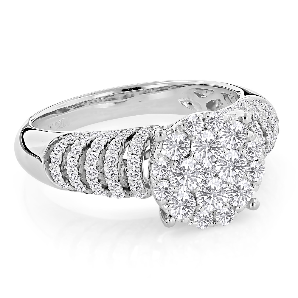 Unique Engagement Rings: Ladies Diamond Ring 1.28ct 14K Gold White Image