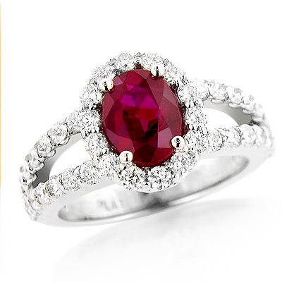 Unique Halo Diamond and Ruby Engagement Ring in Platinum 1ctd 1.35ctr unique-halo-diamond-and-ruby-engagement-ring-in-platinum-095ctd-135ctr_1