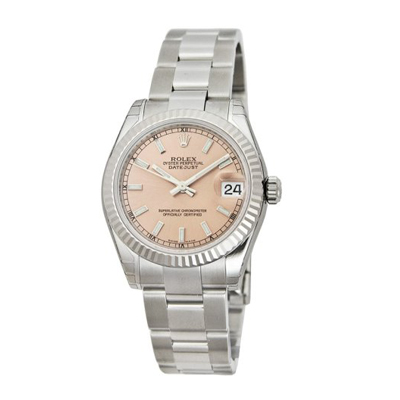 Unisex ROLEX Oyster Watch Perpetual Datejust Pink