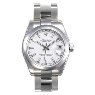 Unisex ROLEX Oyster Watch Perpetual Datejust White