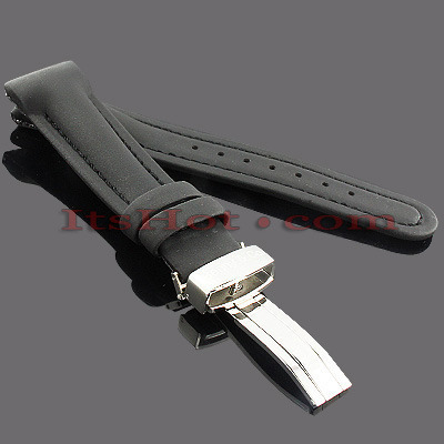 Watch Bands: Benny & Co Polyurethane Watch Band 20mm Black