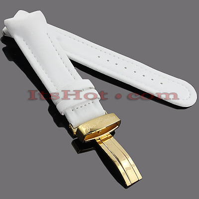 Watch Bands: Joe Rodeo Polyurethane Watch Band 24mm White Watch Bands: Joe Rodeo Polyurethane Watch Band 24mm White