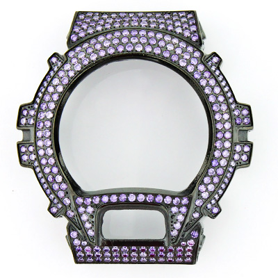 Watch Bezels: Purple G-Shock Bezel with Crystals  watch-bezels-purple-g-shock-bezel-with-crystals_1