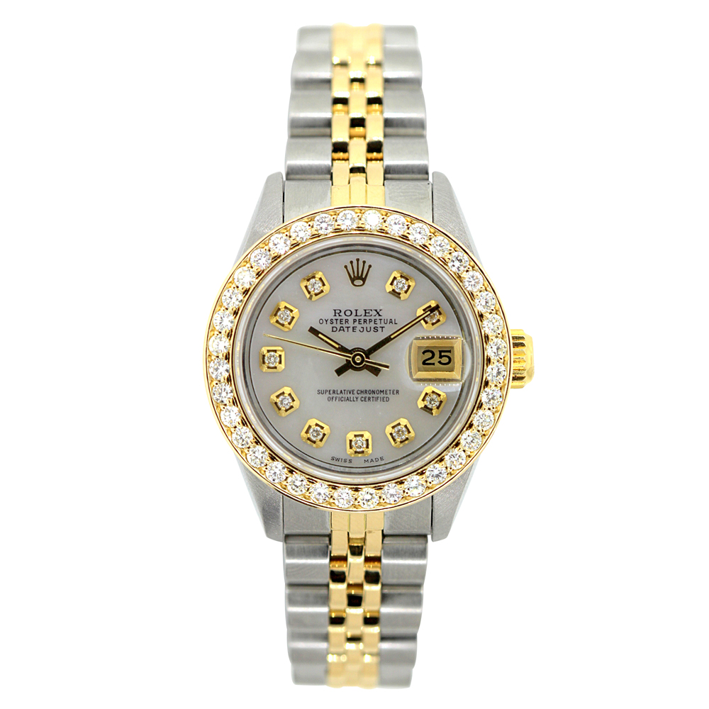26mm Rolex Datejust Ladies Diamond Watch 18k Gold & Stainless Steel 1.2ct  Main Image