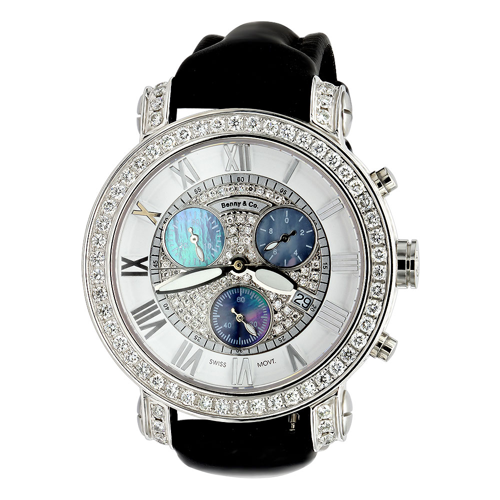 6.5 Carats G VS Diamonds Swiss Made Mens Diamond Watch Benny and Co Main Image