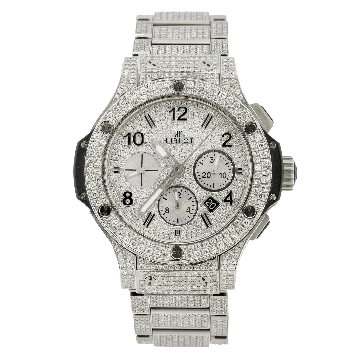 Iced Out 44mm 301.sx Hublot Big Bang Full Diamond Watch for Men Sale 16ct Main Image