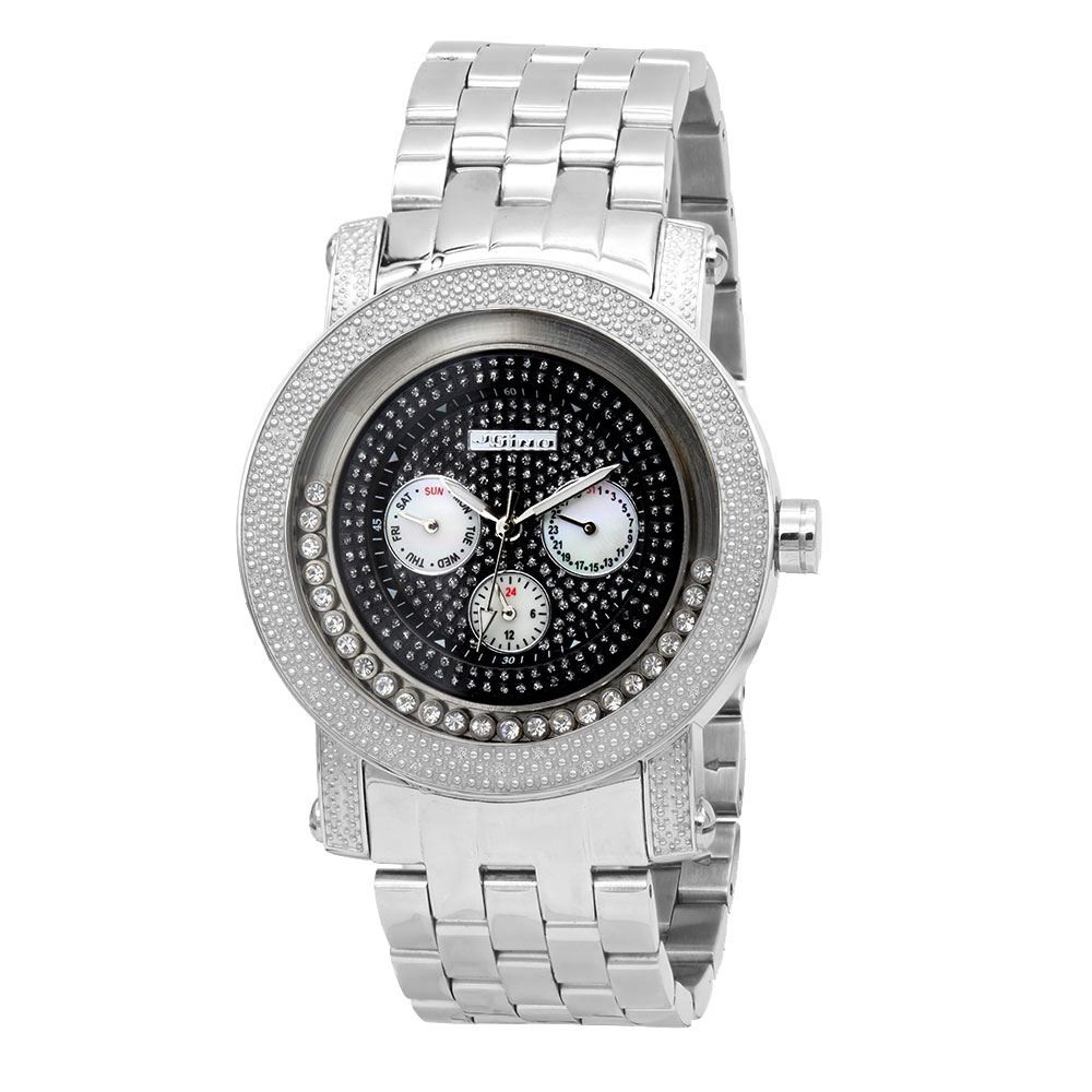 JoJino Moving Stones Real Diamond Watch for Men with Chronograph 0.25ct Main Image