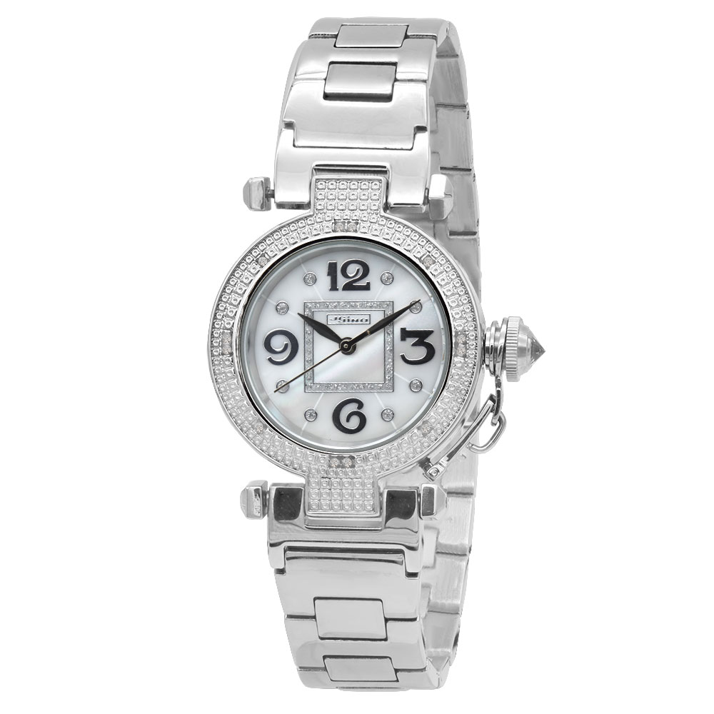 JoJino Women's Diamond Watch 0.12ctw White Mother-Of-Perl Dial Main Image