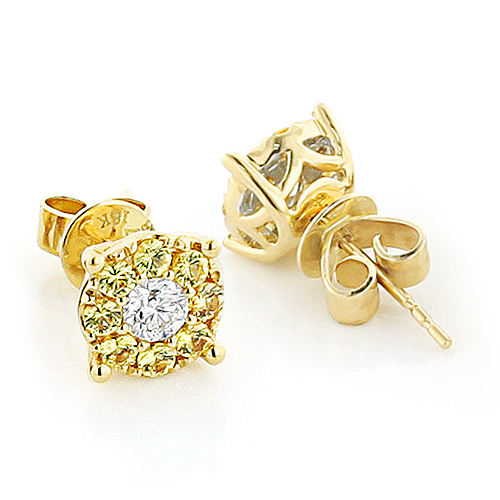gold earrings stud fashion diamond gabriel yellow