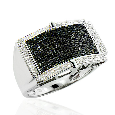 White Black Diamond Ring for Men in Sterling Silver 0.70ct white-black-diamond-ring-for-men-in-sterling-silver-070ct_1