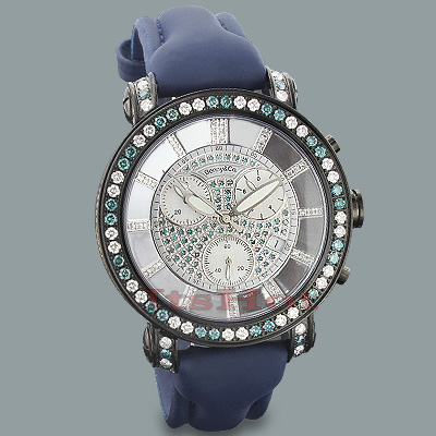 White Blue Diamond Mens Watch by Benny and Co 6.50ct   Main Image