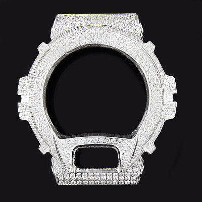 White Ice G-Shock Bezel with Crystals