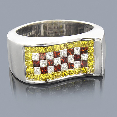 White Yellow Red Diamond Ring 2.50ct Limited Edition Main Image