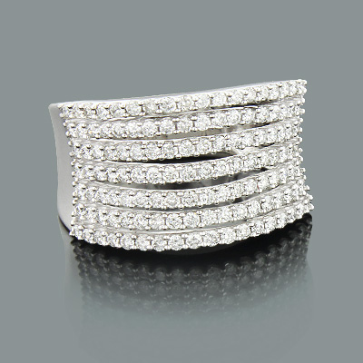 Wide Designer Diamond Ring for Women 115ct 10K Gold