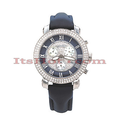 Womens Diamond Benny and Company Watch 1.9ct Navy