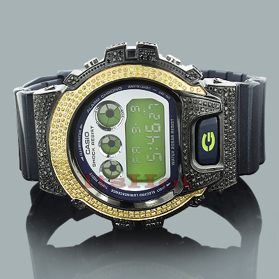 Yellow Black Diamond Watches: Casio G-Shock Diamond Watch 3.75ct Main Image