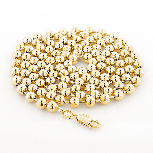 Yellow Gold Ball Chain 14K 5mm, 22-40in Main Image