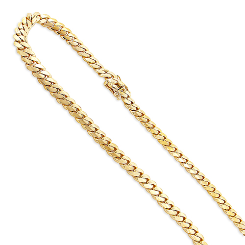 Mens Luxurman Solid Yellow Gold Miami Cuban Link Chain 5.5mm 14K 22-40in yellow-gold-miami-cuban-link-curb-chain-56mm-14k-22-40in_1